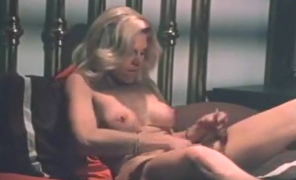 Big breasted blonde porno slut wants to be fucked by a dude and blackmails him into sex